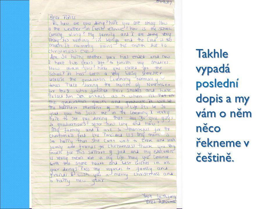 Takhle vypadá poslední dopis a my vám o něm něco řekneme v češtině.