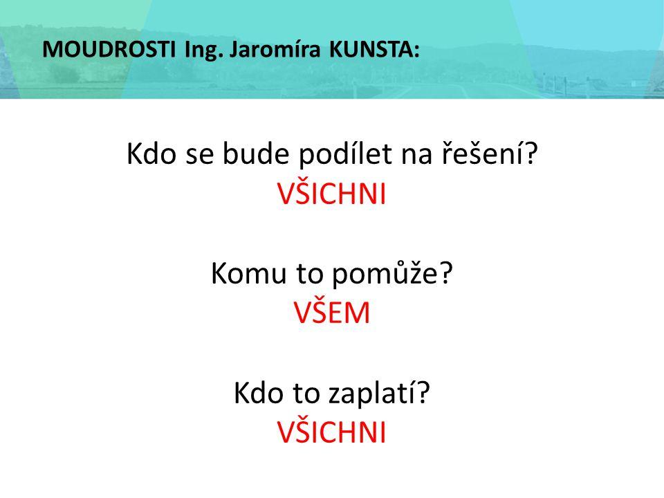 MOUDROSTI Ing. Jaromíra KUNSTA: Kdo se bude podílet na řešení.