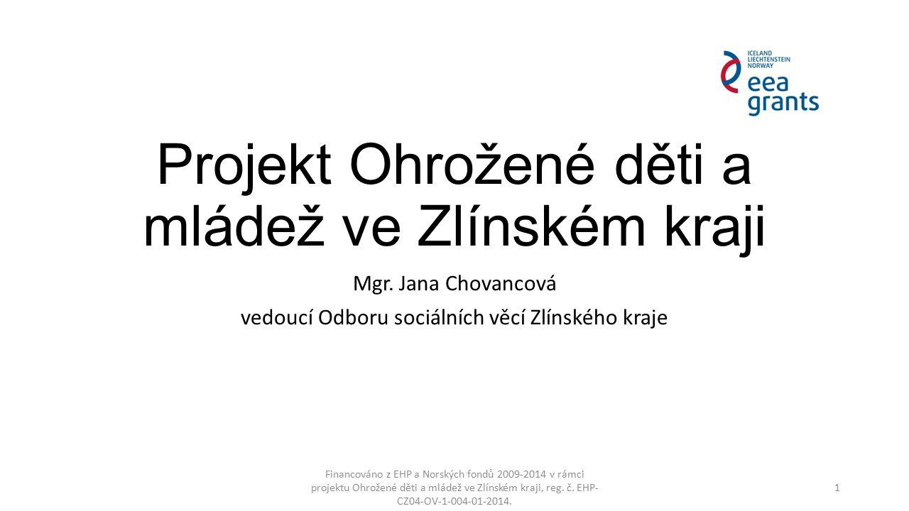Osnova Financováno z EHP a Norských fondů 2009-2014 v rámci projektu Ohrožené děti a mládež ve Zlínském kraji, reg.