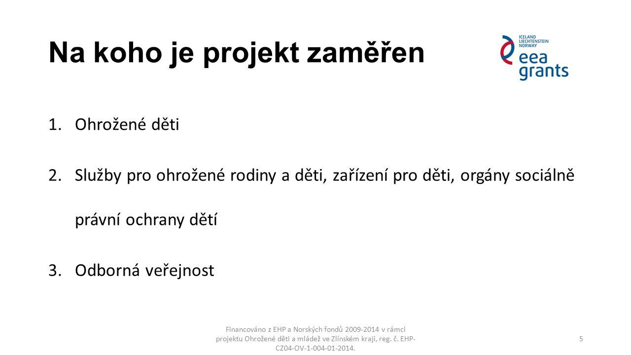 Na koho je projekt zaměřen Financováno z EHP a Norských fondů 2009-2014 v rámci projektu Ohrožené děti a mládež ve Zlínském kraji, reg. č. EHP- CZ04-O
