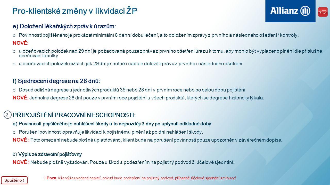 Důležité kontakty na provoz ŽP Oceňování ŽP: o E-mail: ocenovani@allianz.cz - odpověď do 24 hodin ve všední dnyocenovani@allianz.cz o Tel.: 224 405 841 - přímá plovoucí linka Taxace a změny ŽP: o E-mail: zivot@allianz.cz - předán ke zpracování do 24 hodinzivot@allianz.cz o Tel.