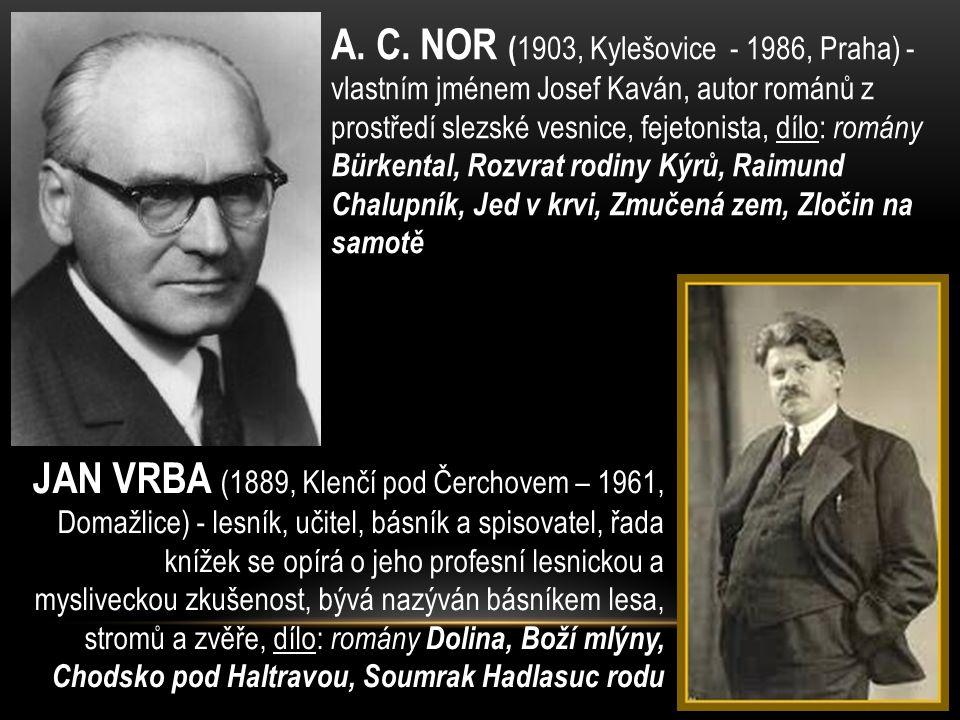 FRANTIŠEK KUBKA (1894 – 1969) -prozaik, básník, germanista a překladatel (zvl.