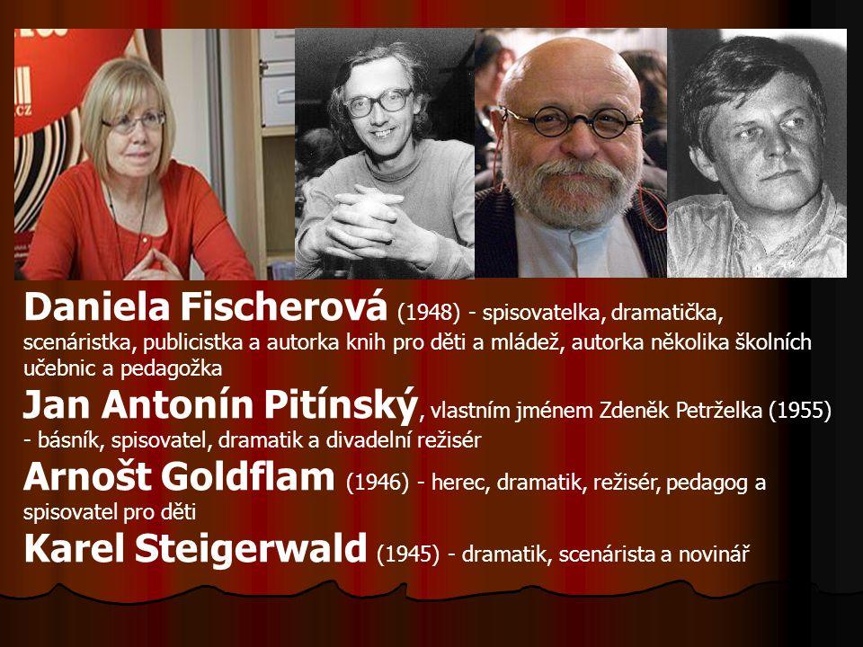 Daniela Fischerová (1948) - spisovatelka, dramatička, scenáristka, publicistka a autorka knih pro děti a mládež, autorka několika školních učebnic a p
