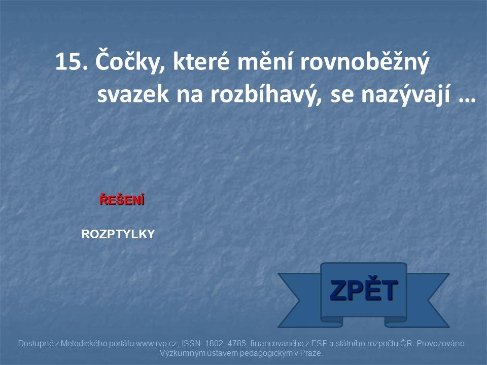 ŘEŠENÍ ROZPTYLKY ZPĚT Dostupné z Metodického portálu www.rvp.cz, ISSN: 1802–4785, financovaného z ESF a státního rozpočtu ČR. Provozováno Výzkumným ús