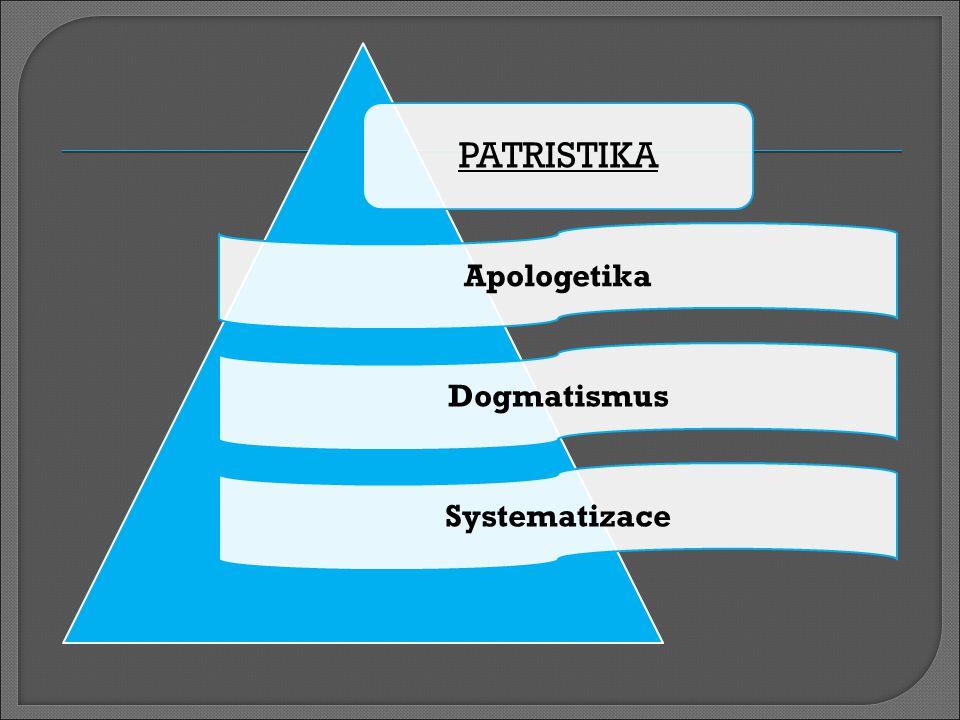 PATRISTIKA ApologetikaDogmatismusSystematizace