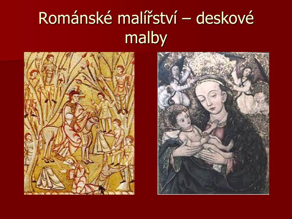 Románské malířství – deskové malby