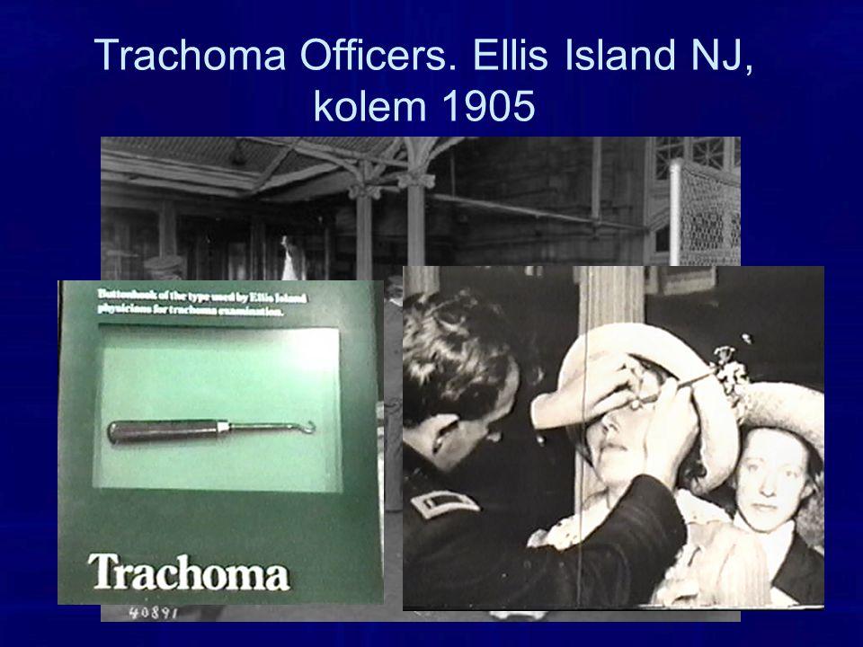 Trachoma Officers. Ellis Island NJ, kolem 1905