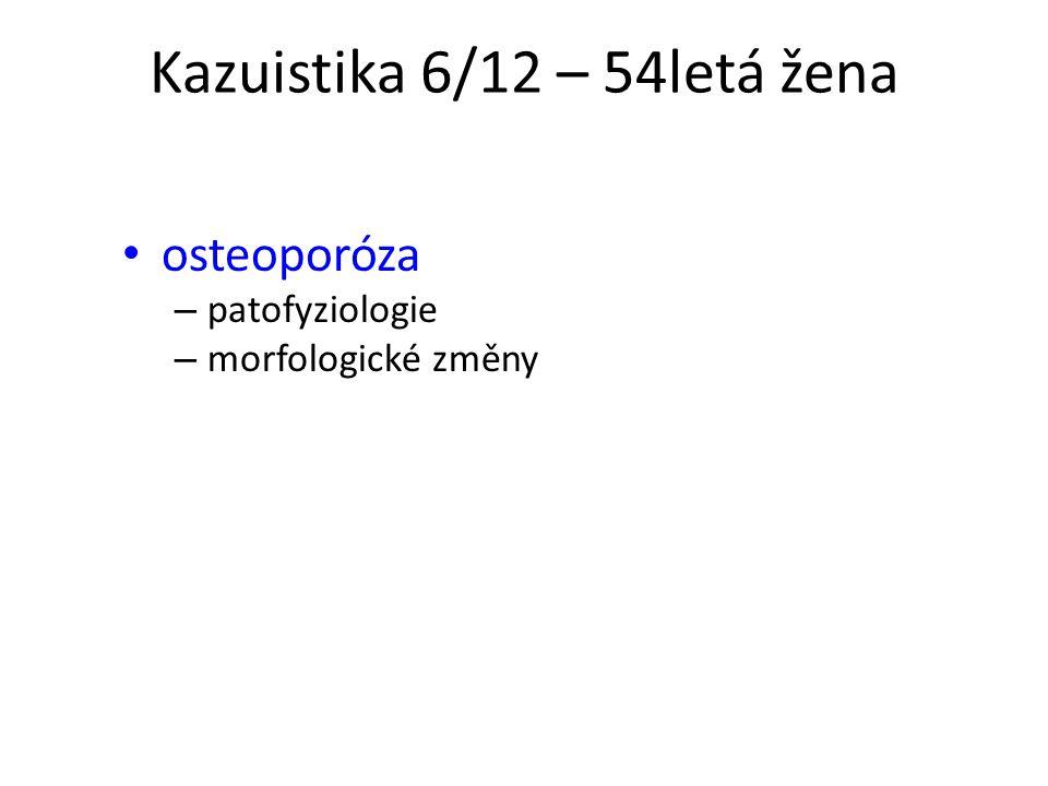 Kazuistika 6/12 – 54letá žena osteoporóza – patofyziologie – morfologické změny