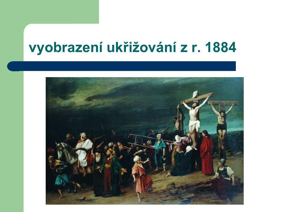 vyobrazení ukřižování z r. 1884