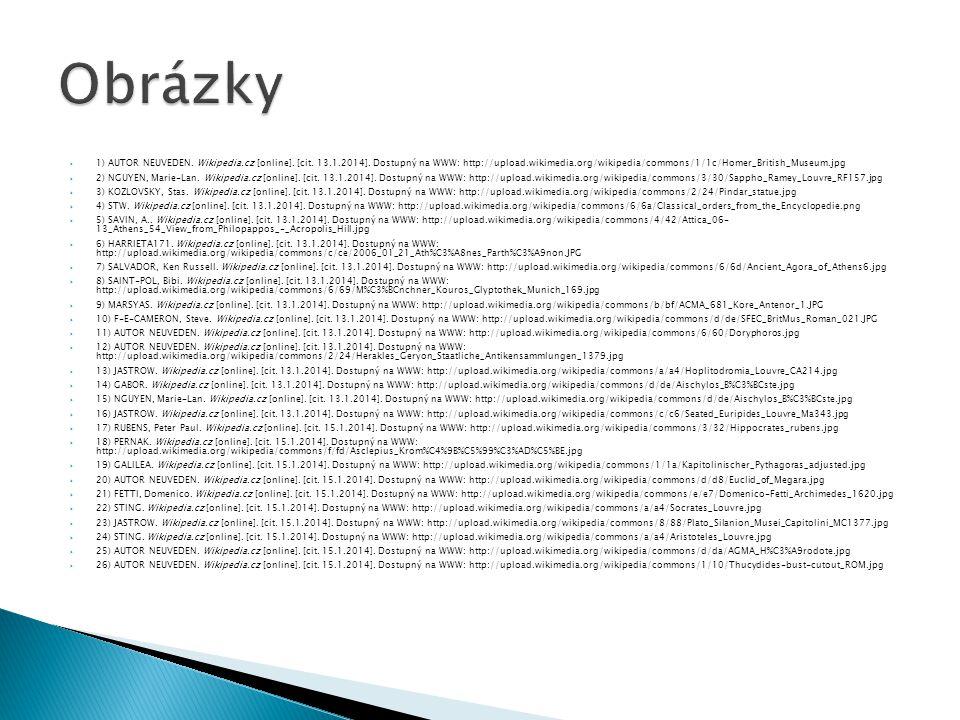 1) AUTOR NEUVEDEN.Wikipedia.cz [online]. [cit. 13.1.2014].