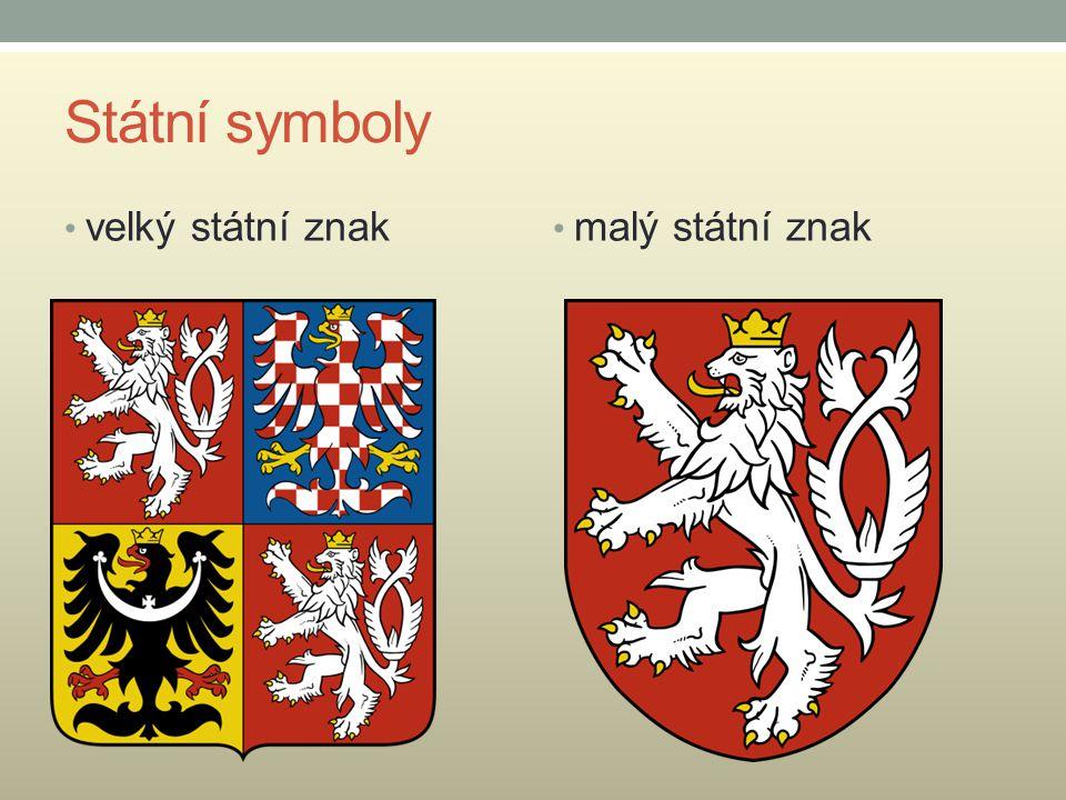 Státní symboly velký státní znak malý státní znak