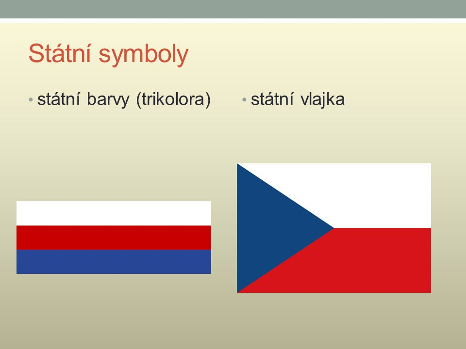 Státní symboly státní pečeť vlajka prezidenta republiky