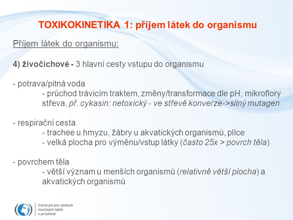 TOXIKOKINETIKA – Bioaktivace Prokarcinogenu BaP interkalovaný v DNA