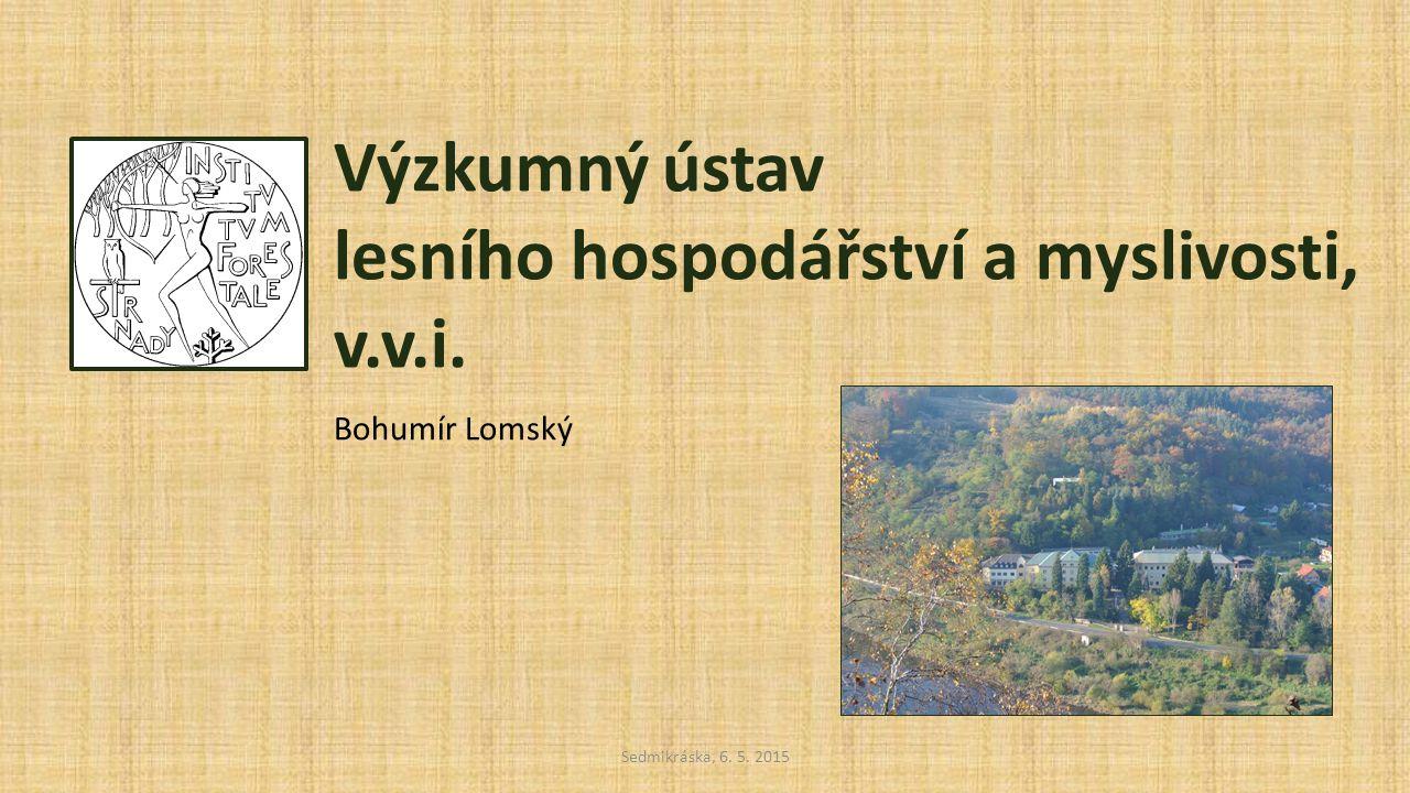 Historie Výzkumný ústav lesního hospodářství a myslivosti, v.v.i.