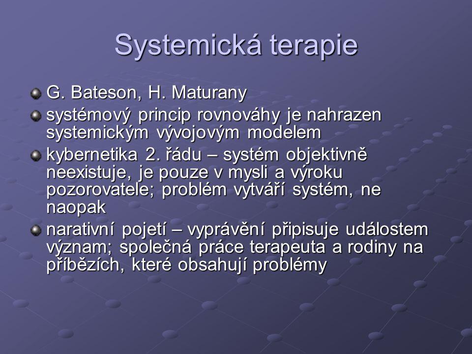 Systemická terapie G.Bateson, H.