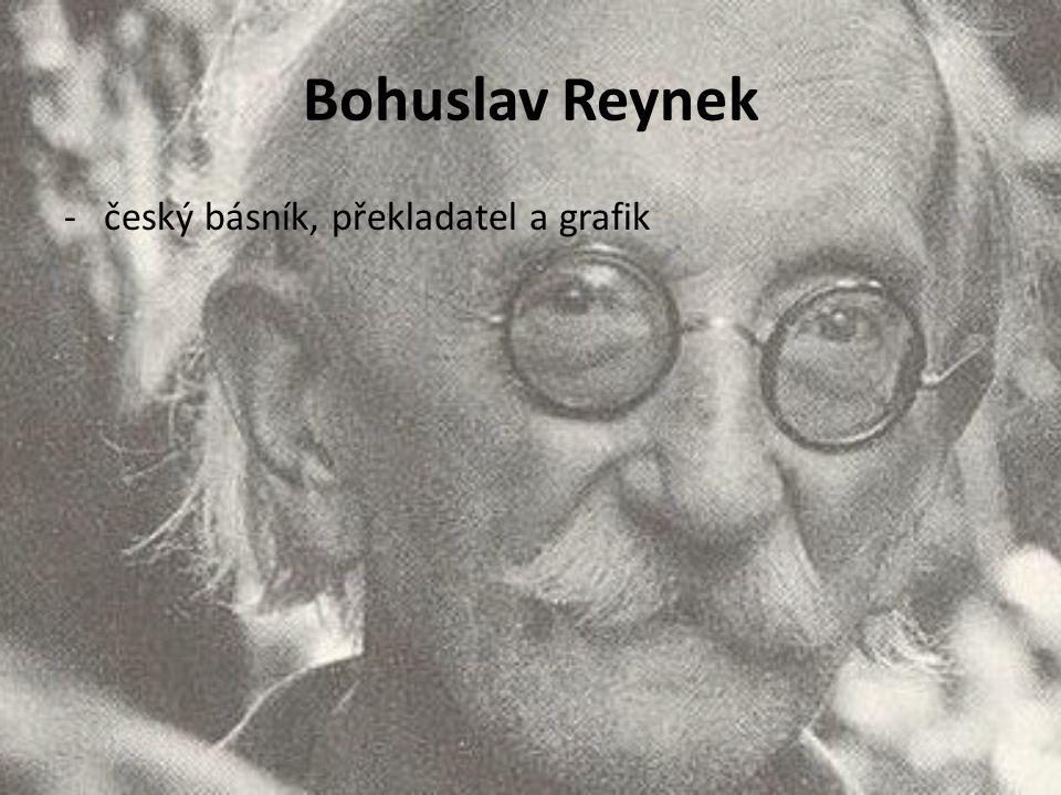 -český básník, překladatel a grafik