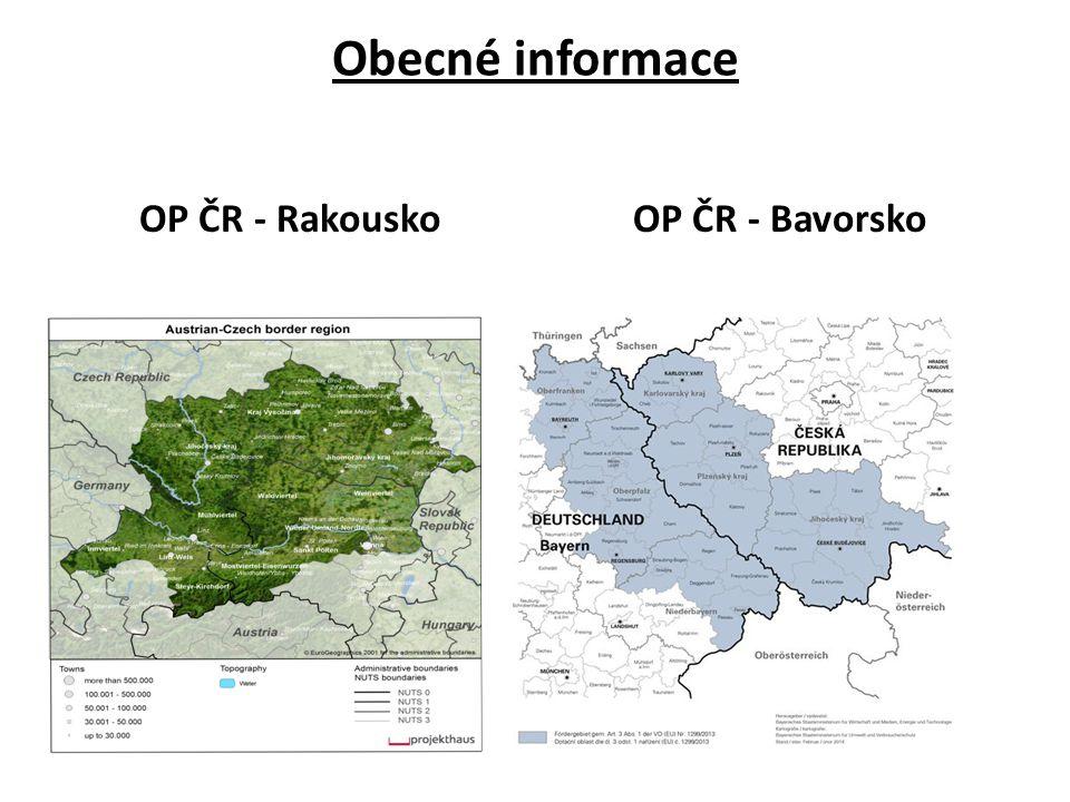 Obecné informace OP ČR - RakouskoOP ČR - Bavorsko