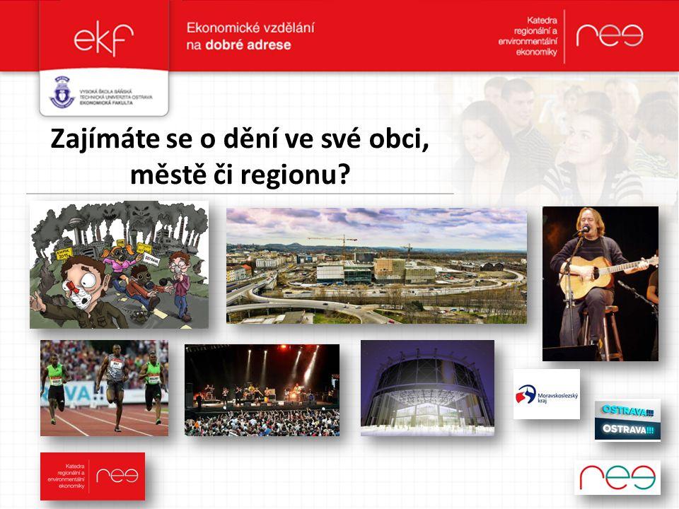 Zajímáte se o dění ve své obci, městě či regionu