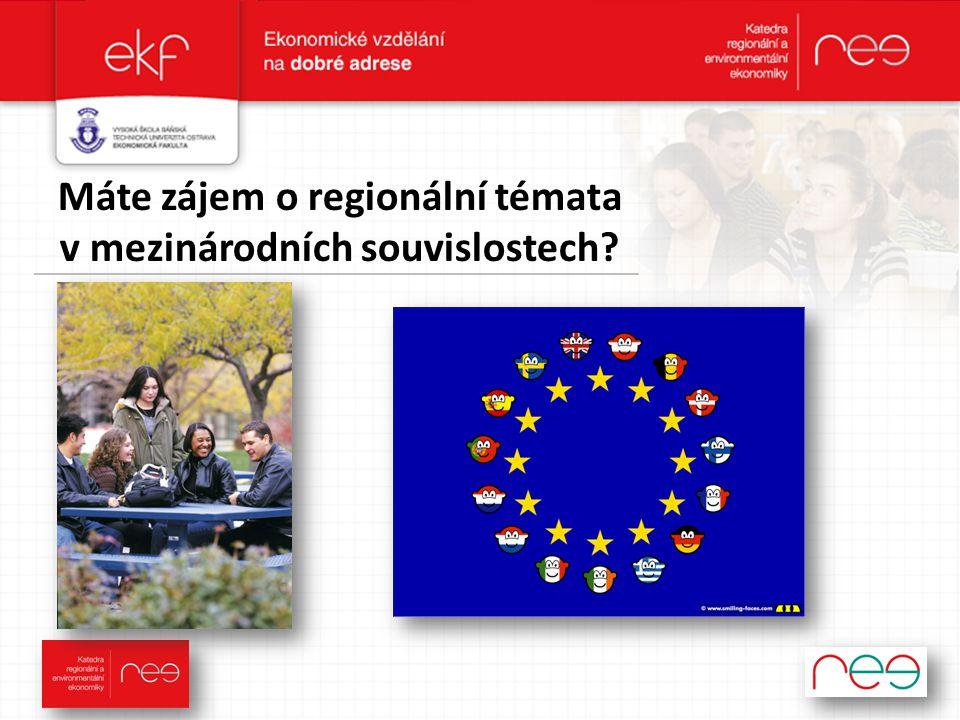 Máte zájem o regionální témata v mezinárodních souvislostech