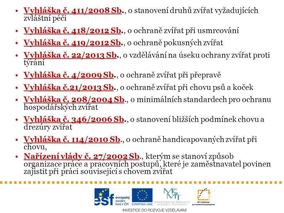 Vyhláška č.411/2008 SbVyhláška č.