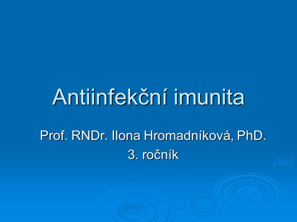 Antiinfekční imunita Prof. RNDr. Ilona Hromadníková, PhD. 3. ročník