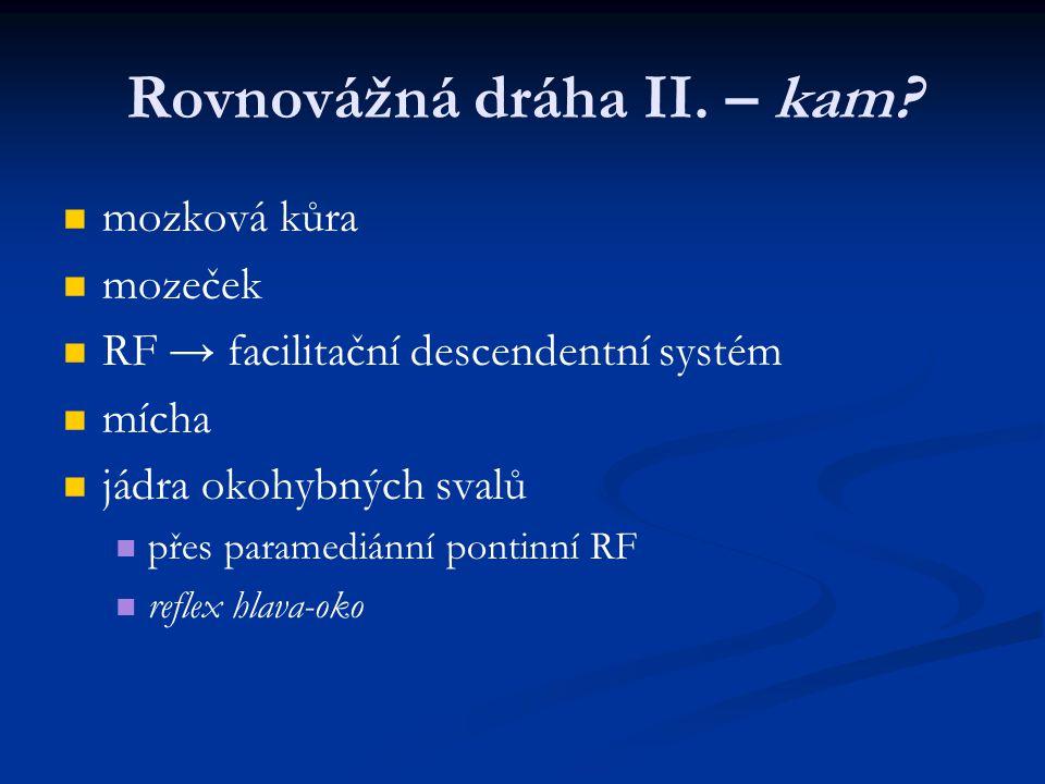 Rovnovážná dráha II.– kam.