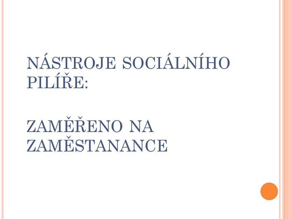 NÁSTROJE SOCIÁLNÍHO PILÍŘE: ZAMĚŘENO NA ZAMĚSTANANCE