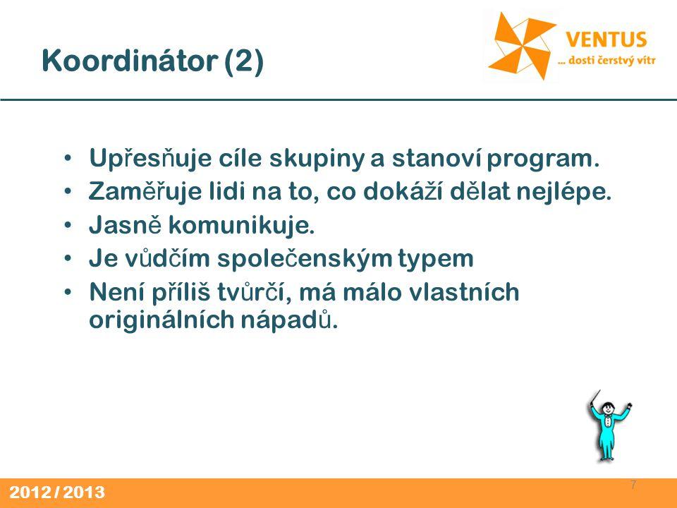 2012 / 2013 Hleda č (2) 28 Pozitivní a nadšený Zájem o v ě c ztrácí stejn ě rychle, jako ho získává.