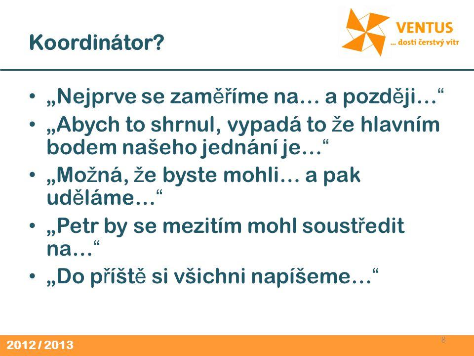 2012 / 2013 Humanizátor (2) 19 Citlivý a jemný.Uv ě domuje si pot ř eby a obavy jednotlivc ů.
