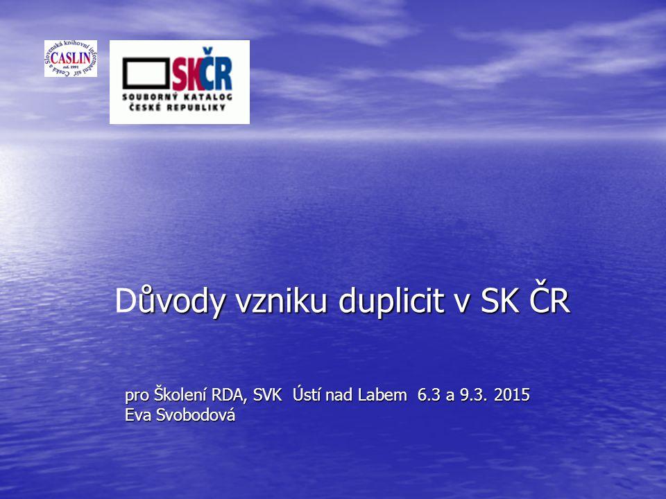 pro Školení RDA, SVK Ústí nad Labem 6.3 a 9.3.