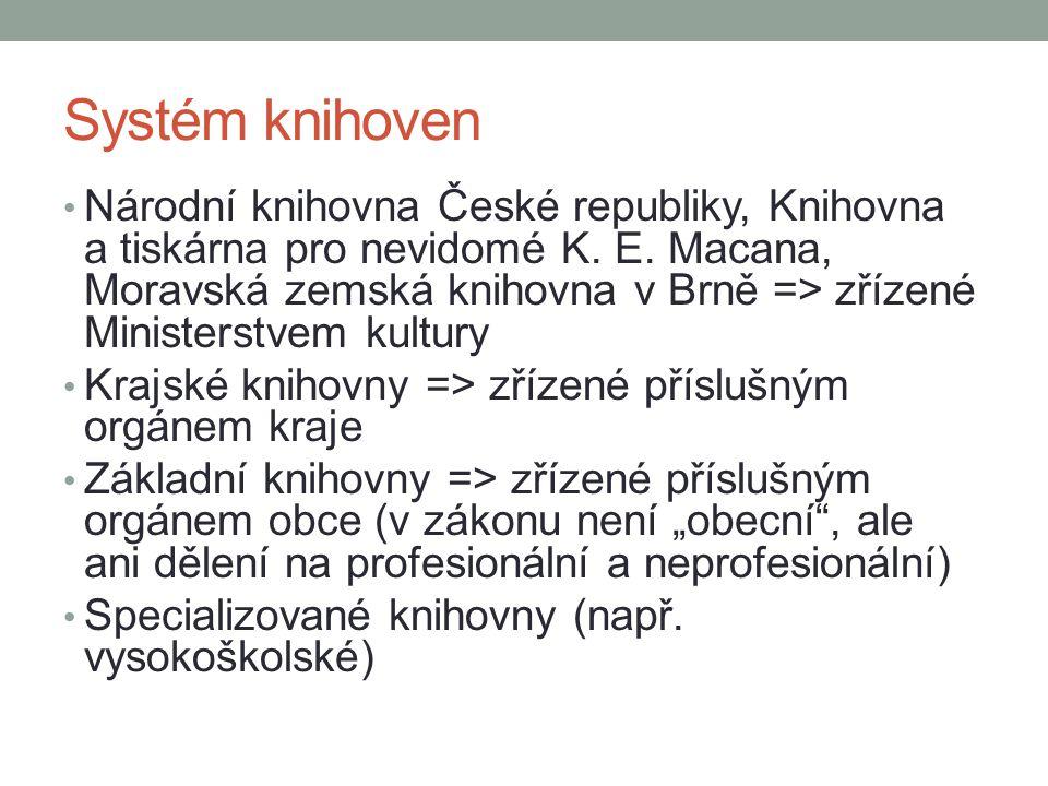 Systém knihoven Národní knihovna České republiky, Knihovna a tiskárna pro nevidomé K.