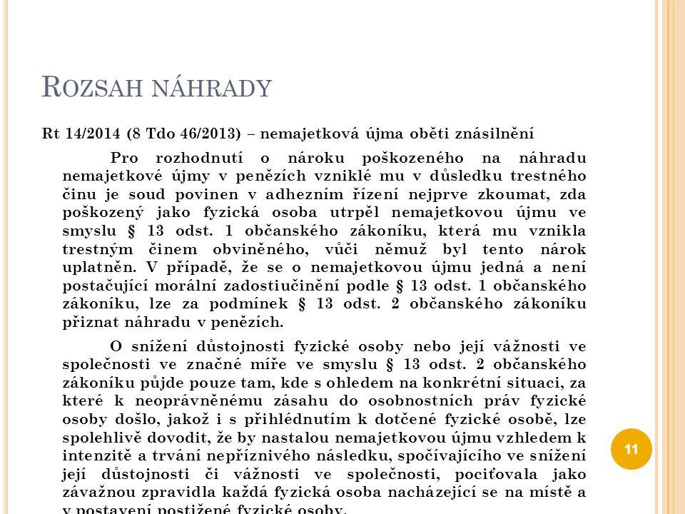 ÚJMA NA PŘIROZENÝCH PRÁVECH ČLOVĚKA § 2957 o.z.