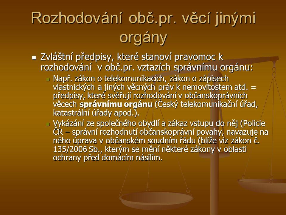 Rozhodování obč.pr.