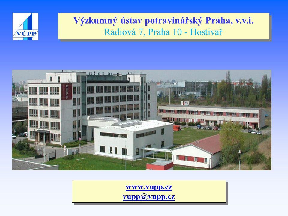www.vupp.cz vupp@vupp.cz Výzkumný ústav potravinářský Praha, v.v.i. Radiová 7, Praha 10 - Hostivař
