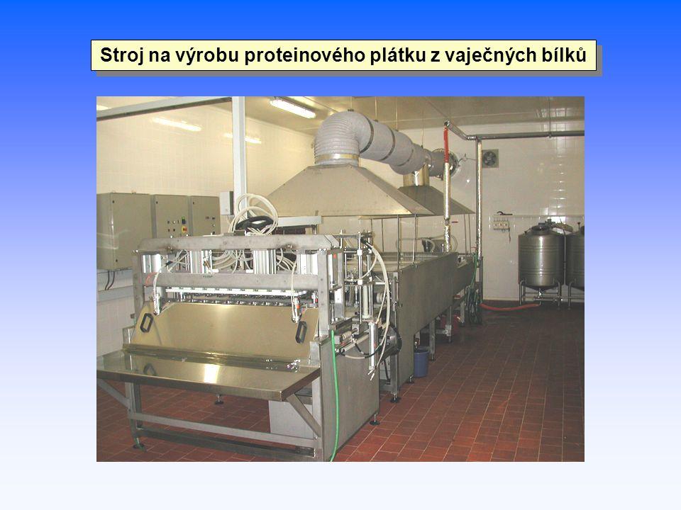 Stroj na výrobu proteinového plátku z vaječných bílků