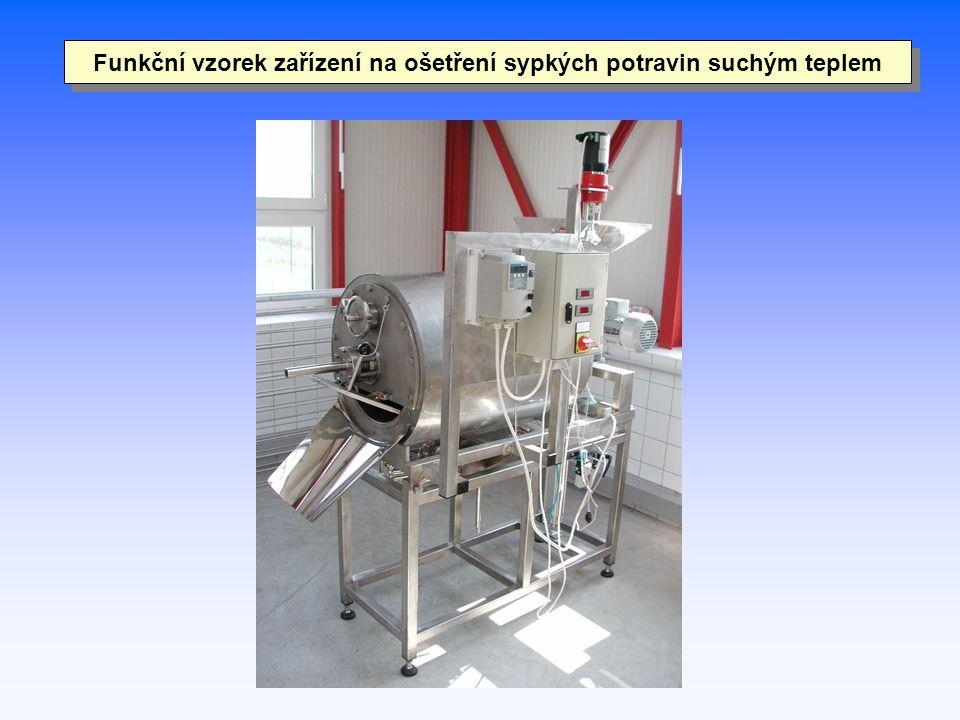 Funkční vzorek zařízení na ošetření sypkých potravin suchým teplem