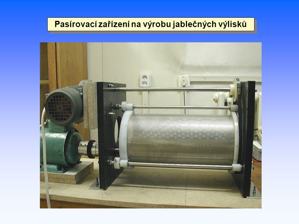 Pasírovací zařízení na výrobu jablečných výlisků