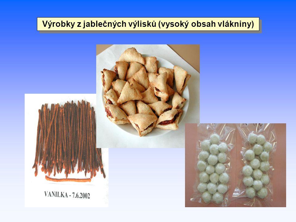 Výrobky z jablečných výlisků (vysoký obsah vlákniny)