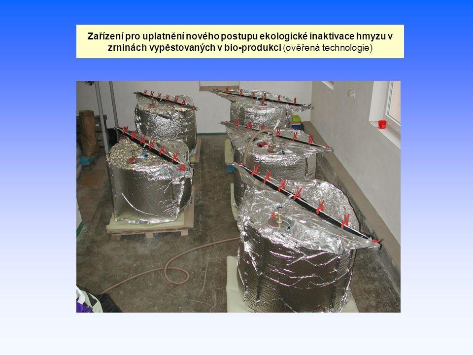 Zařízení pro uplatnění nového postupu ekologické inaktivace hmyzu v zrninách vypěstovaných v bio-produkci (ověřená technologie)