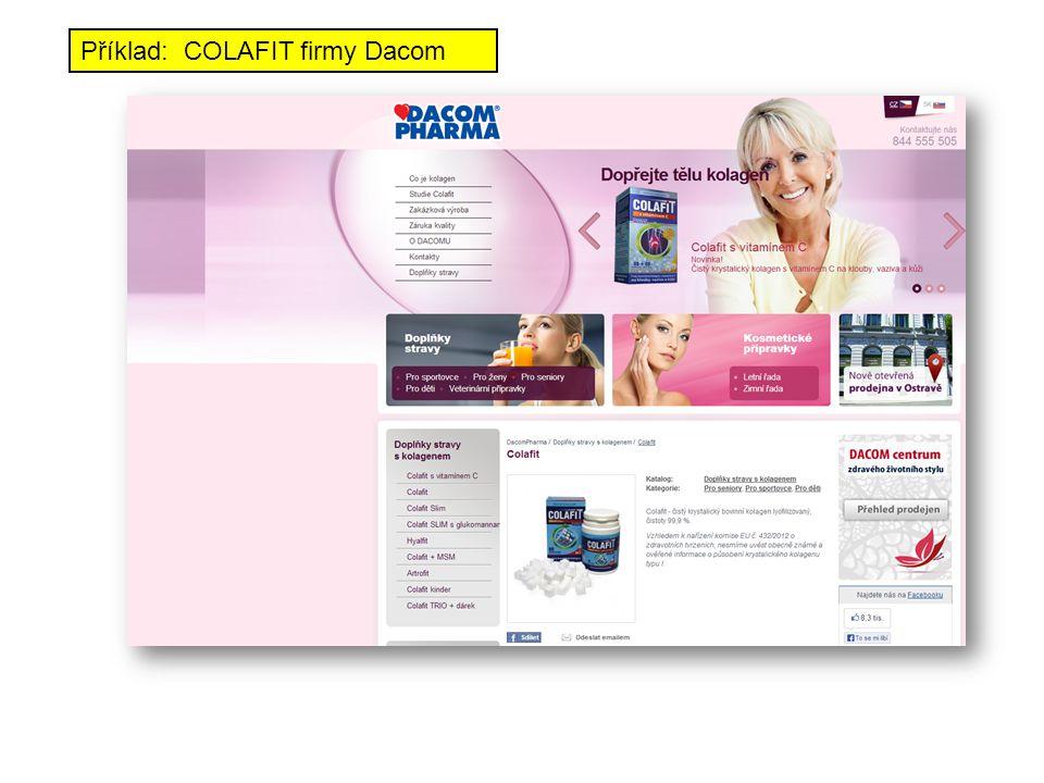 Příklad: COLAFIT firmy Dacom