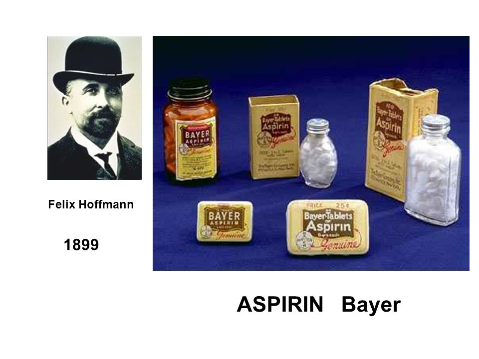 Felix Hoffmann ASPIRIN Bayer 1899