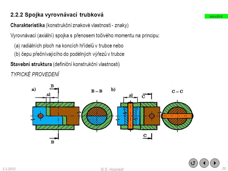 2.2.2 Spojka vyrovnávací trubková Charakteristika (konstrukční znakové vlastnosti - znaky) Vyrovnávací (axiální) spojka s přenosem točivého momentu na