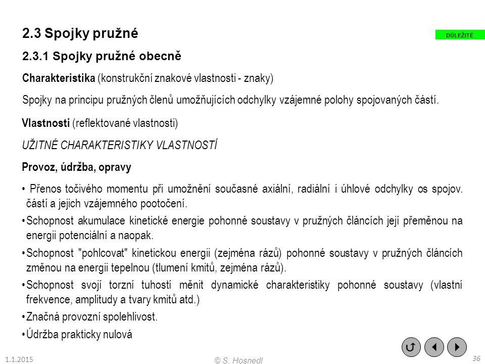 2.3 Spojky pružné 2.3.1 Spojky pružné obecně Charakteristika (konstrukční znakové vlastnosti - znaky) Spojky na principu pružných členů umožňujících o