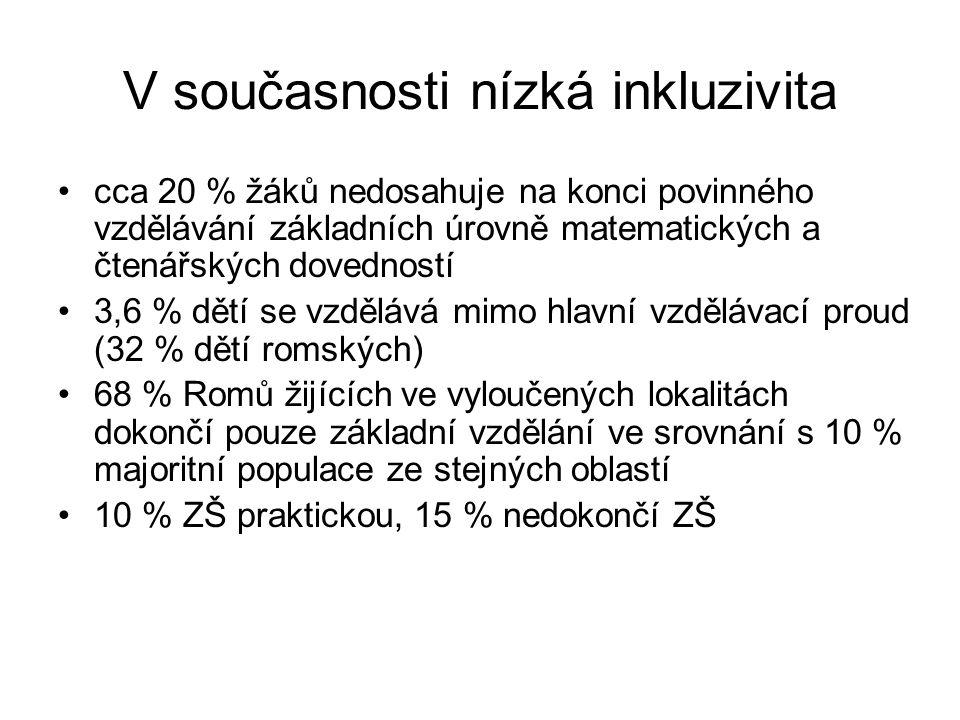 Ale zejména nízká spravedlivost V ČR pozorujeme relativně silnou závislost výsledků vzdělávání a dosaženého vzdělání na rodinném zázemí Školy se na všech stupních vzdělávacího systému významně liší složením žáků i výsledky vzdělávání