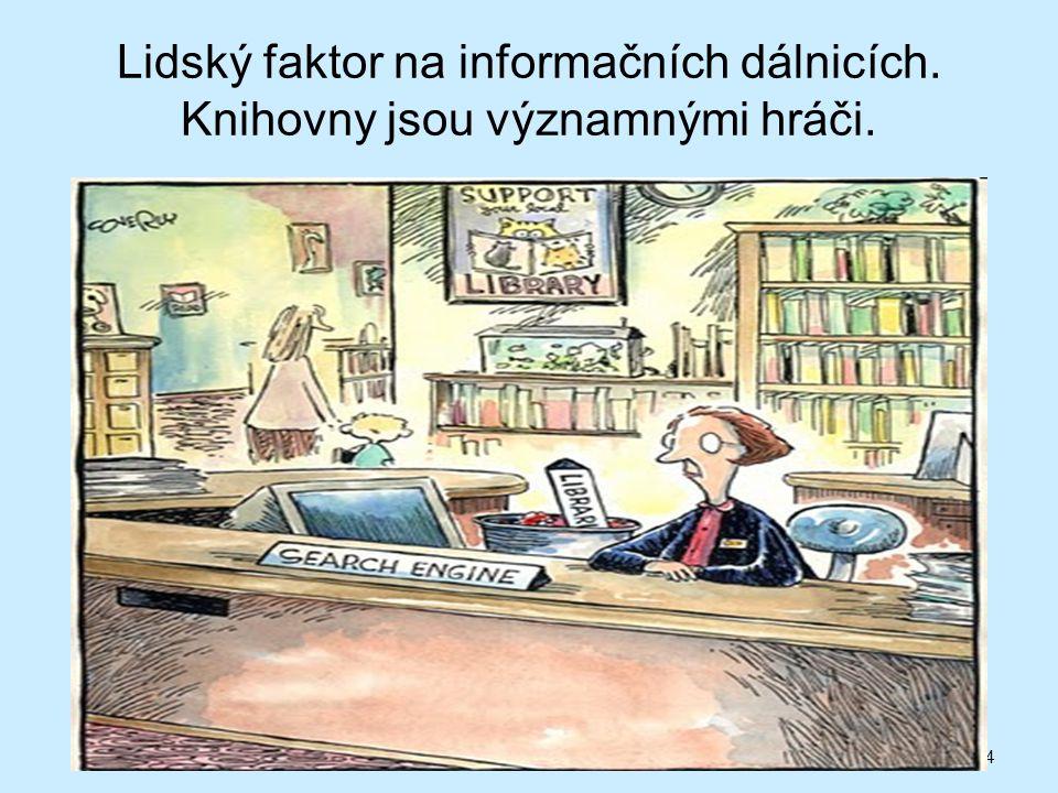 Lidský faktor na informačních dálnicích. Knihovny jsou významnými hráči. 24