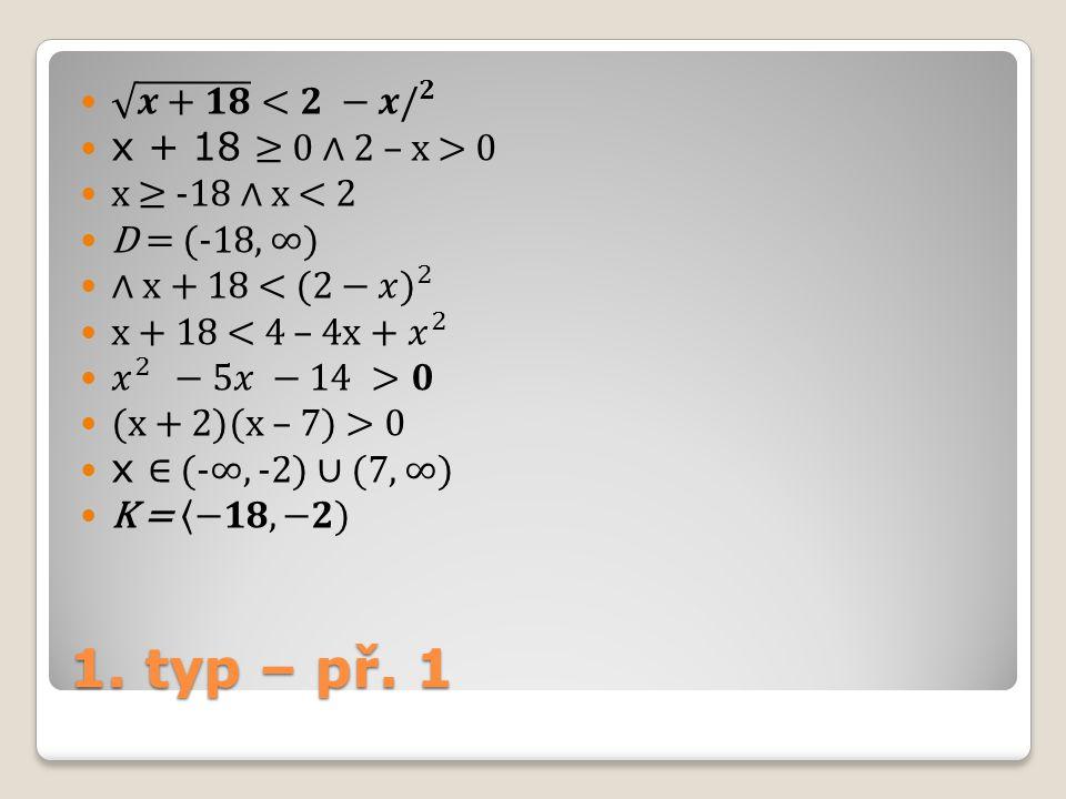 1. typ – př. 1