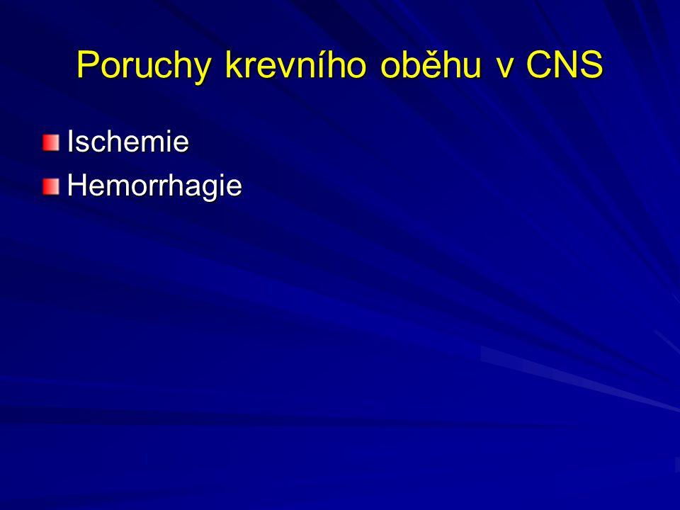 Poruchy krevního oběhu v CNS IschemieHemorrhagie