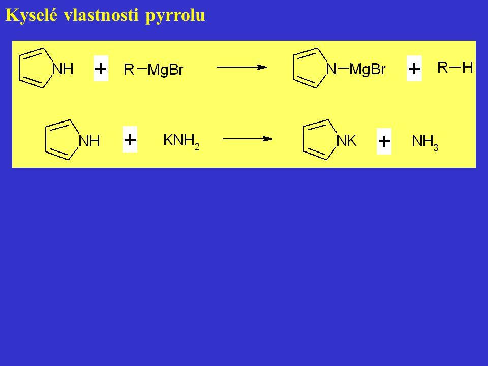 Kyselé vlastnosti pyrrolu