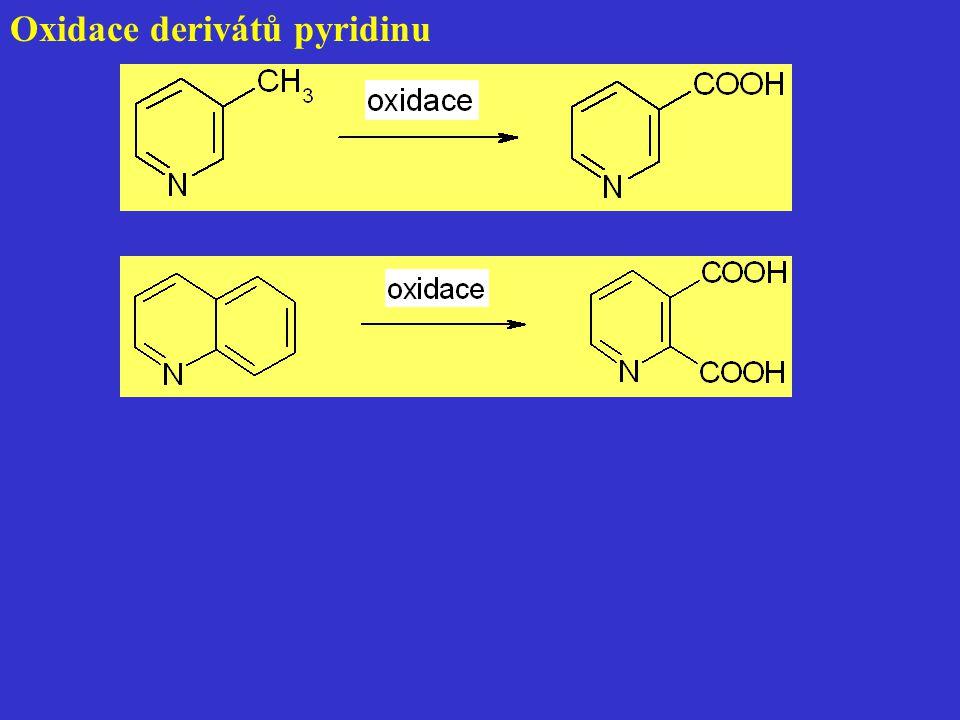 Oxidace derivátů pyridinu