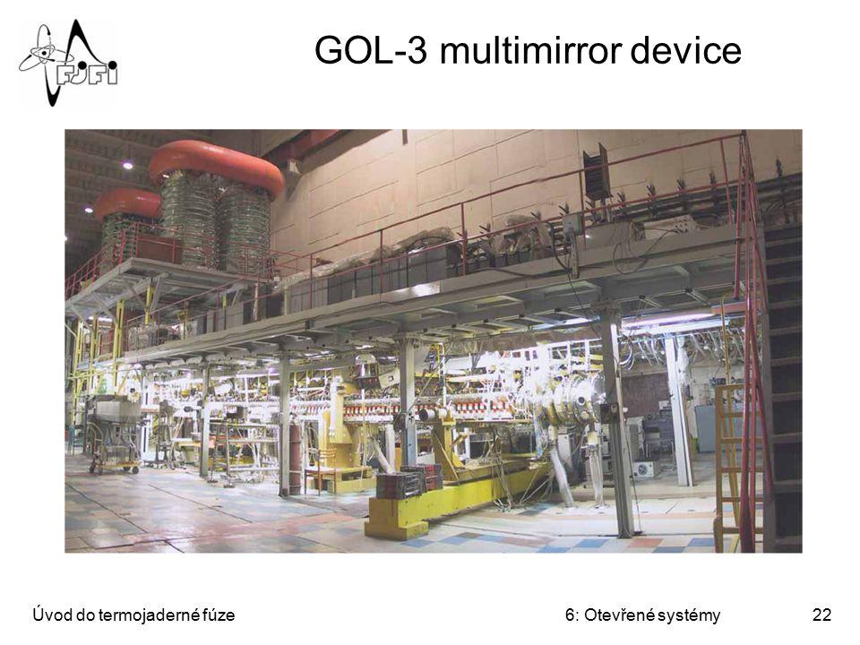 Úvod do termojaderné fúze6: Otevřené systémy22 GOL-3 multimirror device